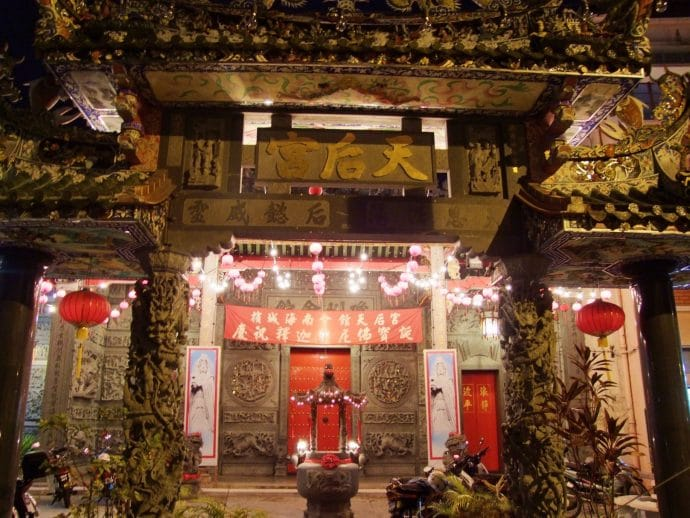 thean hou temple chinois nuit penang malaisie