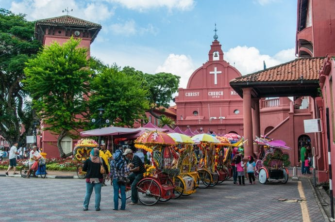 dutch square - malacca - malaisie