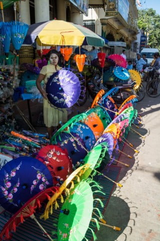 parasols pathein birmanie