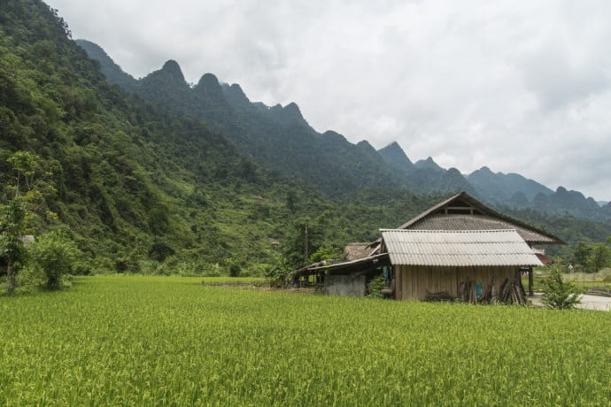 moto nord Vietnam - campagne entre Ha Giang et Dong Van