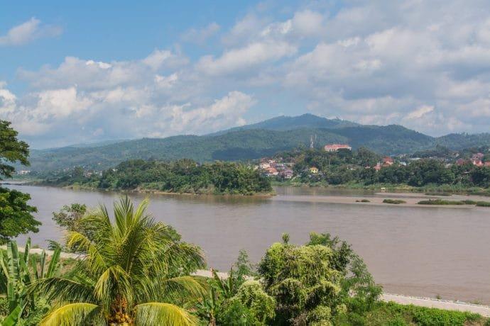 vue depuis chiangkhong green river