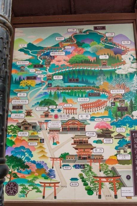 plan sanctuaire fushimi inari