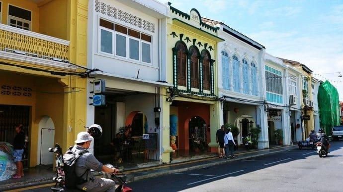 rue phuket town - thailande