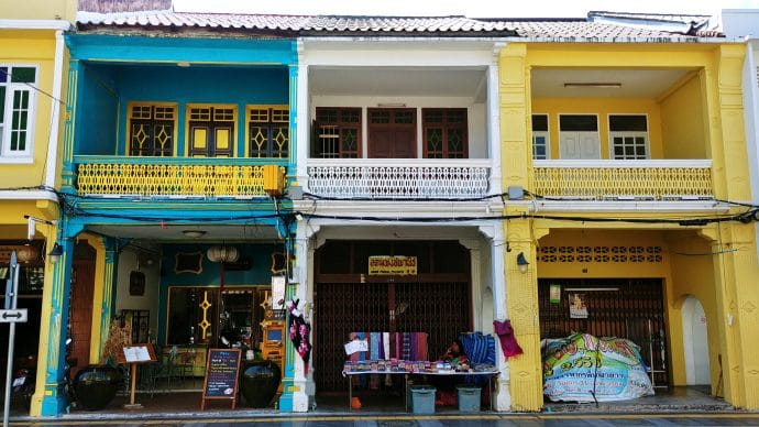 shophouses colorees phuket town