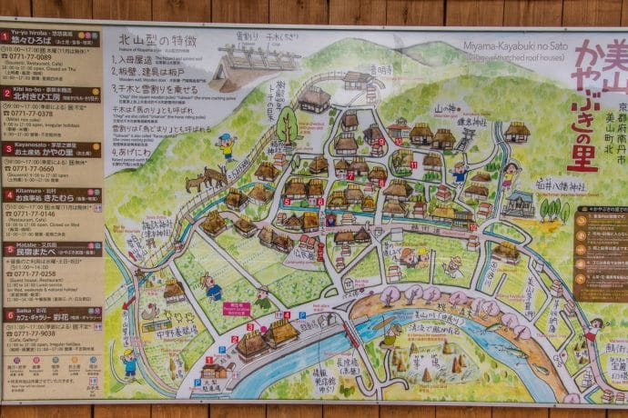 carte village miyama kayabuki-no-sato - kyoto prefecture japon