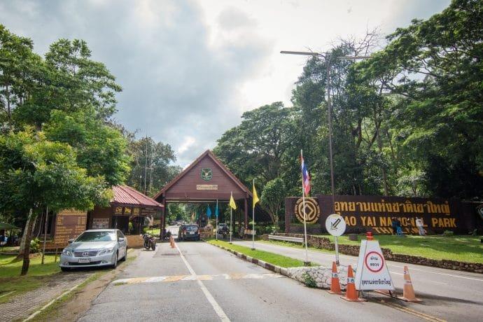 entree nord parc national khao yai - thailande
