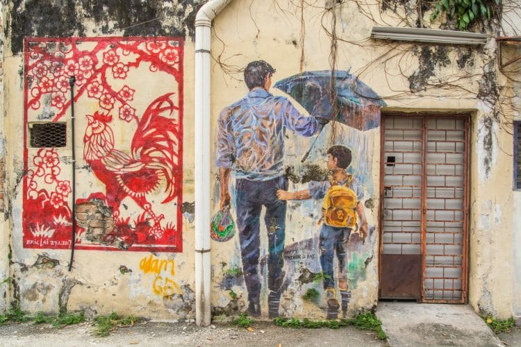 peinture murale happy fathers day ipoh - malaisie