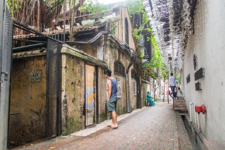 ruelle lazy lane kong heng square ipoh - malaisie
