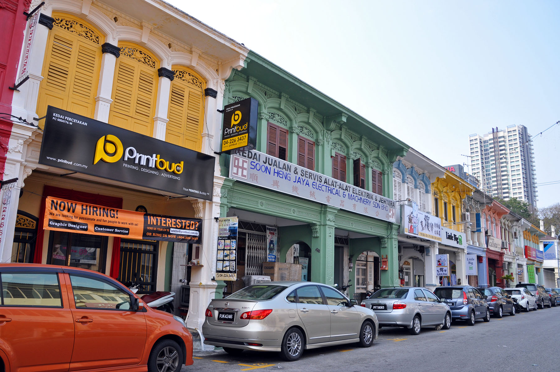 facades chinoises george town penang – malaisie