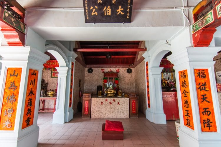 interieur temple chinois kusu island singapour