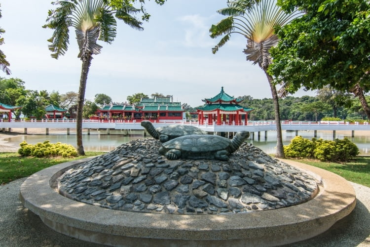 statue tortues kusu island singapour