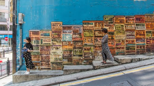 graham street art - hong kong